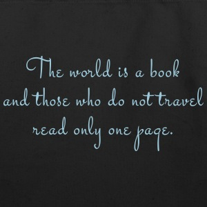 The world is a book. - Eco-Friendly Cotton Tote