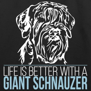 LIFE IS BETTER WITH A GIANT SCHNAUZER - Eco-Friendly Cotton Tote