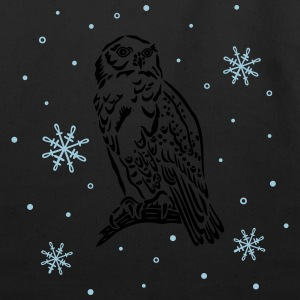 Beautiful snow owl with snowflakes. - Eco-Friendly Cotton Tote