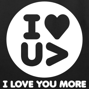 I Love You More Logo - Eco-Friendly Cotton Tote