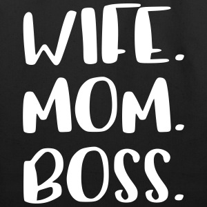 Wife Mom Boss Design - Eco-Friendly Cotton Tote