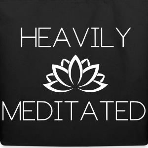 Heavily Meditated Yoga Yogi Design - Eco-Friendly Cotton Tote