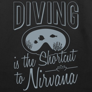 Diving is the shortcut to Nirvana - Eco-Friendly Cotton Tote