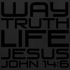 Way truth life Jesus - Eco-Friendly Cotton Tote