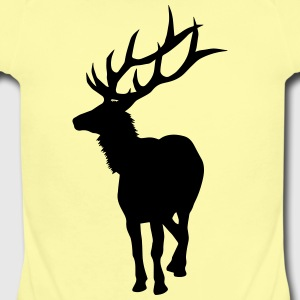 Caution, Elk Crossing - Short Sleeve Baby Bodysuit