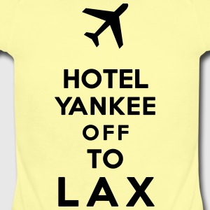 HOTEL TANGO OFF TO LAX - Short Sleeve Baby Bodysuit