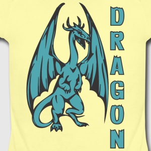 Dragon_with_long_wings_colored - Short Sleeve Baby Bodysuit