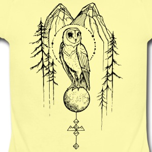 Owl Mountain - Fungi Faction - Short Sleeve Baby Bodysuit