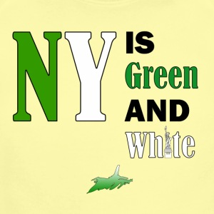 NY Green and White - Short Sleeve Baby Bodysuit