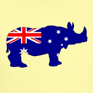 Australian Flag - Rhinoceros - Short Sleeve Baby Bodysuit