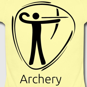 Archery_black - Short Sleeve Baby Bodysuit