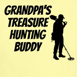 Grandpa's Treasure Hunting Buddy - Short Sleeve Baby Bodysuit