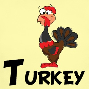 Cartoon Turkey - Short Sleeve Baby Bodysuit