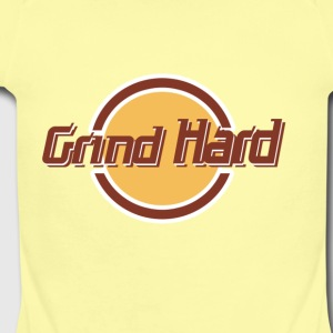 Grind Hard Cafe - Short Sleeve Baby Bodysuit