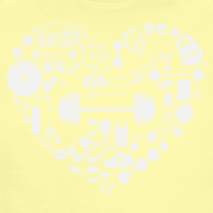 Weight Training Heart Tee Shirt - Short Sleeve Baby Bodysuit
