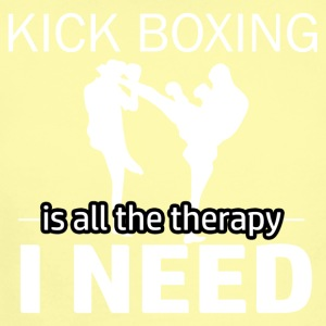Kick Boxing is my therapy - Short Sleeve Baby Bodysuit