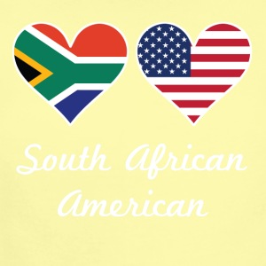 South African American Flag Hearts - Short Sleeve Baby Bodysuit