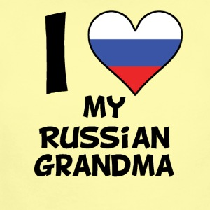 I Heart My Russian Grandma - Short Sleeve Baby Bodysuit