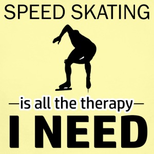 Speed skating is my therapy - Short Sleeve Baby Bodysuit