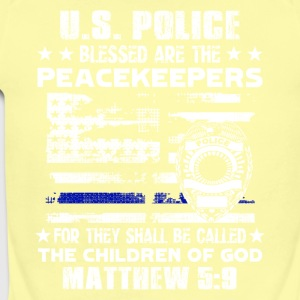 US POLICE BLESSED ARE PEACEKEEPERS TEE SHIRT - Short Sleeve Baby Bodysuit