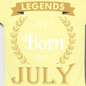Legend Are Born In July - Short Sleeve Baby Bodysuit