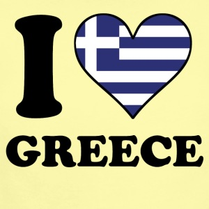 I Love Greece Greek Flag Heart - Short Sleeve Baby Bodysuit