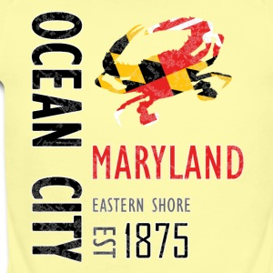 Ocean City Maryland Crab - Short Sleeve Baby Bodysuit