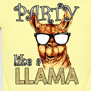 PARTY LIKE A LLAMA - Short Sleeve Baby Bodysuit