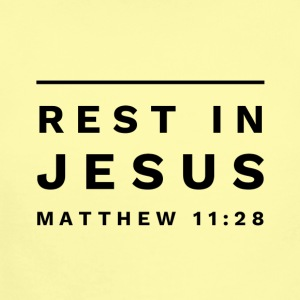 Rest in Jesus large - Short Sleeve Baby Bodysuit