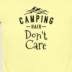 Camping Hair Don't Care - Short Sleeve Baby Bodysuit