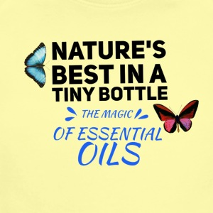 natures best in a tiny bottle, essential oils - Short Sleeve Baby Bodysuit