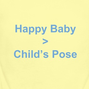 Happy Baby is greater than Child's Pose - Short Sleeve Baby Bodysuit