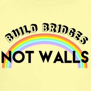 build bridges not walls - Short Sleeve Baby Bodysuit