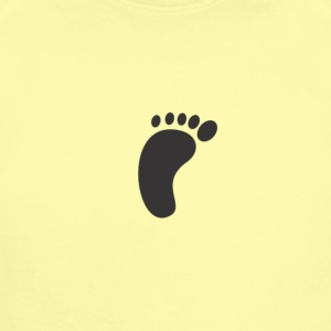 A foot shadow - Short Sleeve Baby Bodysuit