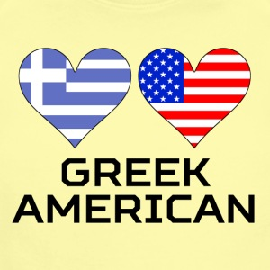 Greek American Hearts - Short Sleeve Baby Bodysuit
