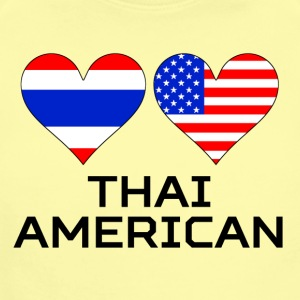 Thai American Hearts - Short Sleeve Baby Bodysuit