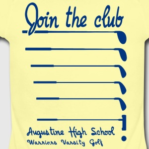 Join The Club Augustine High School Warriors Varsi - Short Sleeve Baby Bodysuit