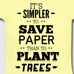 IT-S_SIMPLIER_TO_SAVE_PAPER-01 - Short Sleeve Baby Bodysuit