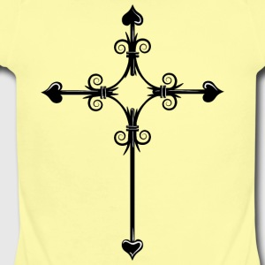 christian_cross_13 - Short Sleeve Baby Bodysuit