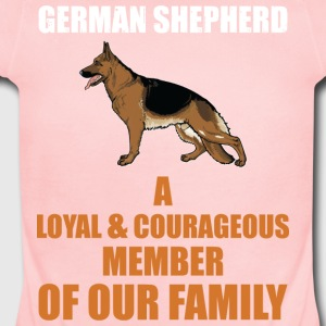 The German Shepherd - Short Sleeve Baby Bodysuit