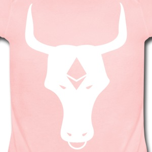 ether bull white - Short Sleeve Baby Bodysuit