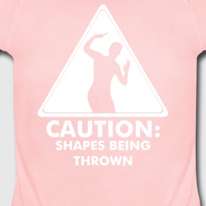 Caution Shapes Being Thrown - Short Sleeve Baby Bodysuit
