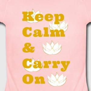 Keep Calm & Carry On - Short Sleeve Baby Bodysuit