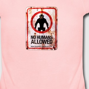 no humans allowed - Short Sleeve Baby Bodysuit
