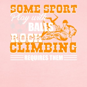 Rock Climbing Requires Balls Shirt - Short Sleeve Baby Bodysuit
