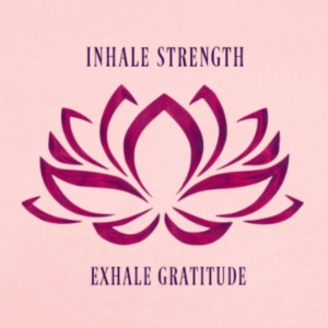 INHALE STRENGTH EXHALE GRATITUDE - Short Sleeve Baby Bodysuit