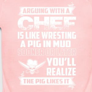 Arguing with a Chef - Short Sleeve Baby Bodysuit