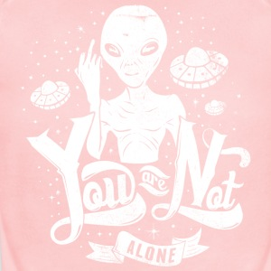 you_are_not_alone_white - Short Sleeve Baby Bodysuit