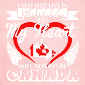 My Heart Will AlwaysBe Canada Shirts - Short Sleeve Baby Bodysuit