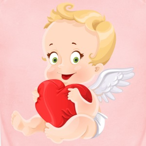 amourchik-smile-cupid-wings-heart-ValentinesDay - Short Sleeve Baby Bodysuit